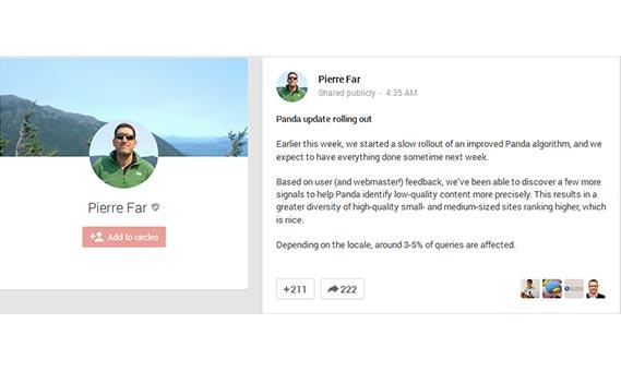 Latest Google Update Rolls Out – Panda 4.1