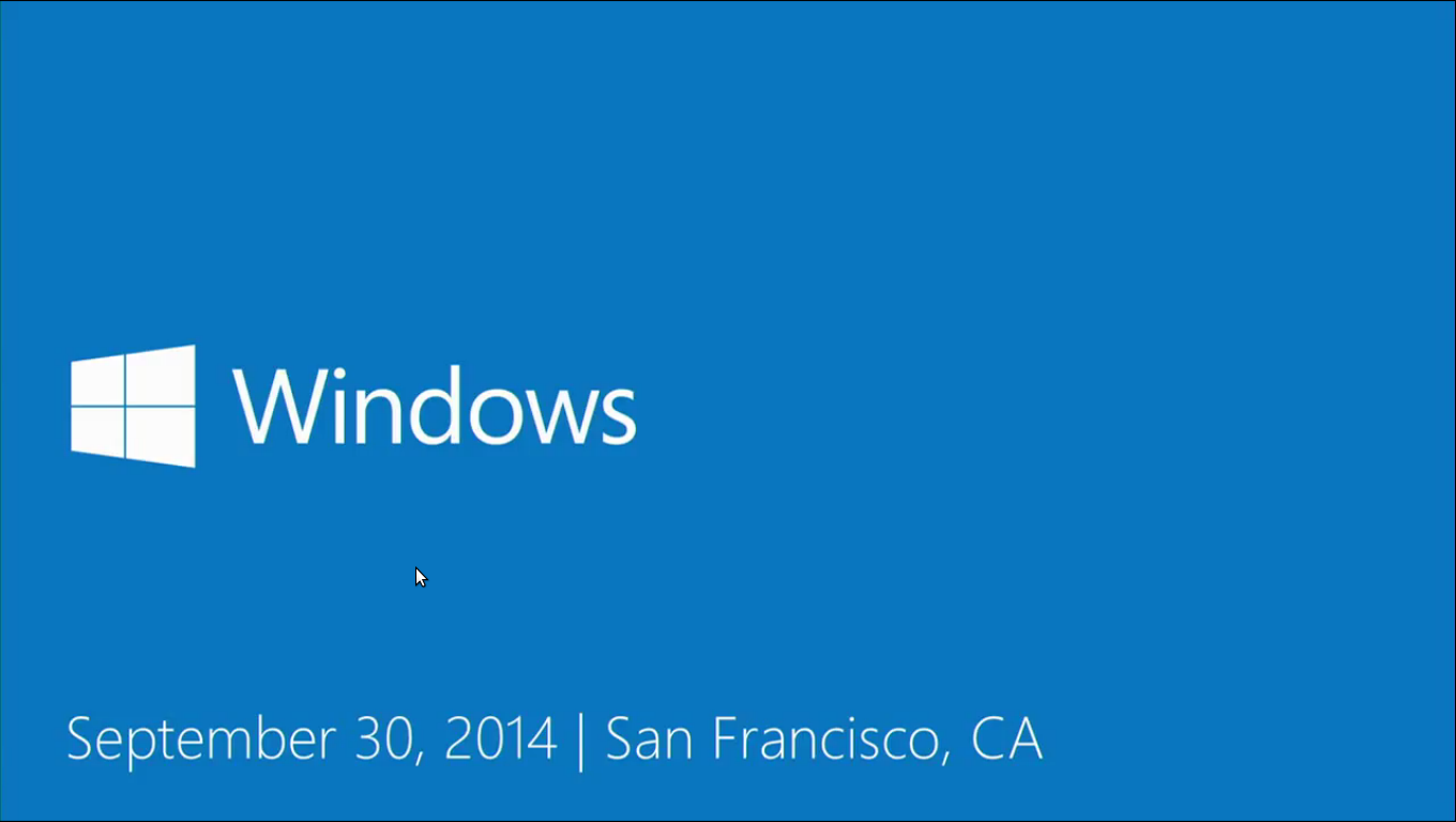 Windows Event 30th september