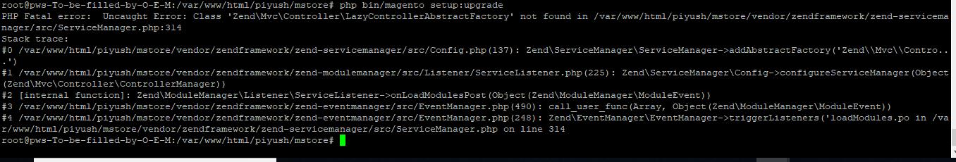 PHP Fatal Error