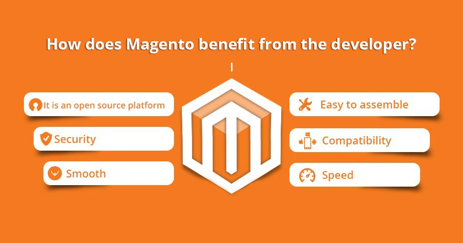 How does Magento benefit from the developer