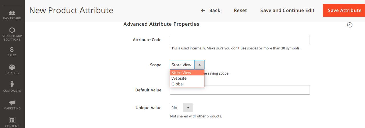 Advanced Attribute Properties