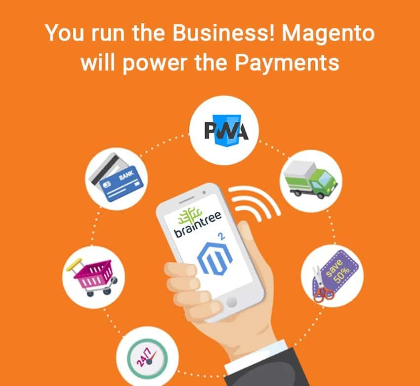 Magento 2 Progressive Web Apps integrates with Braintree